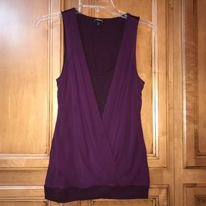 Express sleeveless top in a beautiful wine color